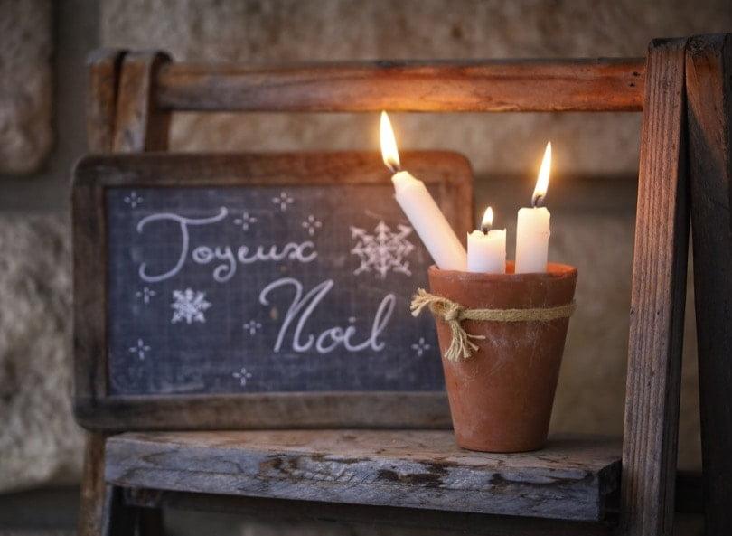 Joyeux Noël sur une ardoise