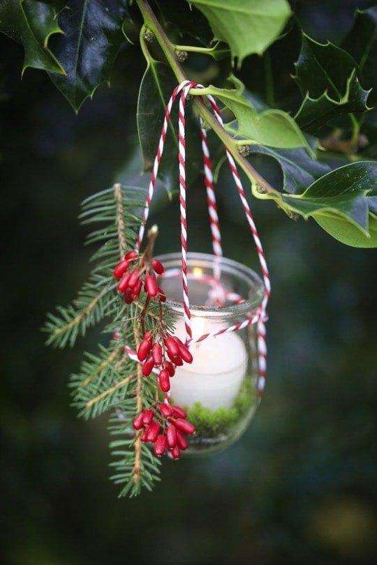 photophore suspendu pour Noël